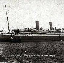 "Image of Postcard ""The Royal Edward ateAvonmouth Dock"" - 1915 C"