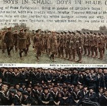 "Image of Postcard ""Boys In Khaki, Boys In Blue"" - 1915 C"