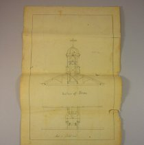 Image of Architechtural Drawings of Woodstock Town Hall, 1853 - 1853/06/02