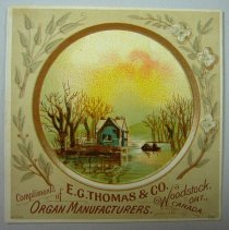 Image of E.G. Thomas and Co Organ Manufactures - 1880 C