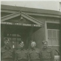 Image of 4 men, Driving School at the Fiargrounds - 1941