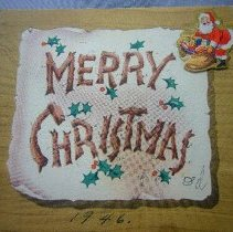 Image of Chirstmas Greeting Card - 1946