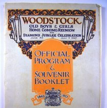 Image of Woodstock Old Boys and Girls Club Home Coming Reunion Program - 1927/06/30 to 1927/07/04