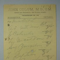 Image of John Odlum Prescription - 1900 C