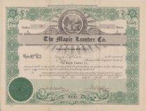 Image of Stock Certificate, Maple Lumber Co. Urbana Ohio
