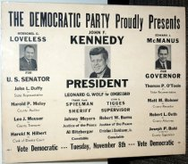 Image of 1961 Democratic Party election poster