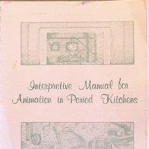 Image of Interpretation manual for animation in a period kitchen                                                                                                                                                                                                        - 642.074 Fai