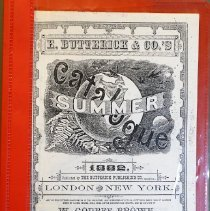 Image of E. Butterick & Co's Summer Catalogue 1882                                                                                                                                                                                                                      - 391.0973 But