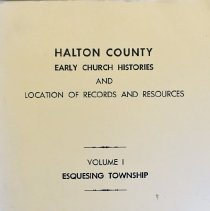 Image of Halton County Early Church Histories and Location of Records and Resources                                                                                                                                                                                     - 929.3 MAN