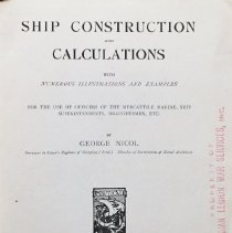 Image of Ship construction and calculations, with numerous illustrations and examples                                                                                                                                                                                   - 623.81 Nic