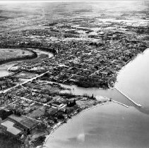 Image of Aerial Photograph of Oakville, circa 1948 - Aerial photograph showing the harbour and town prior to the extensive development of the 1950's and 1960's