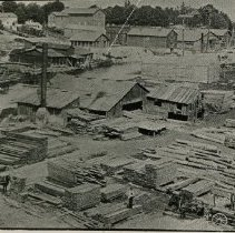 Image of Doty's Sawmill - located on the west bank of Sixteen Mile Creek, south of Colborne Street (now Lakeshore Road East).