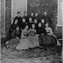 Image of Grammar School Class Photo - The class photo of those who attended the Grammar School in 1865.