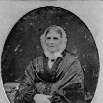 Image of Portrait of Mrs Charles Bigger, 2 views - This is a portrait photo of Mrs Charles Bigger (Sarah Pettit). 2 views