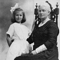 Image of Portrait of Emma Chisholm - Emma Chisholm is the daughter of George K. Chisholm and the wife of Wallser Smith. Taken with her granddaughter Audrey Forester, daughter of Margaret Chisholm and Arthur Forster.