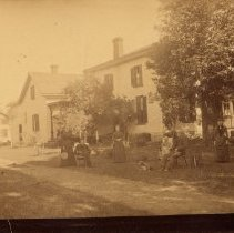 Image of McCraney Farm House - The McCraney Farm House was located in the Trafalgar Township. It was opposite the gates of Appelby School.