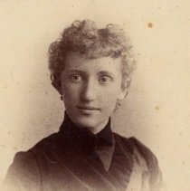 Image of Georgianna Thomas (Ives) as a young woman - Georgianna Thomas was the daughter of George Chisholm Thomas, who was the grandson of Merrick Thomas. (i.e., Georgianna was the granddaughter of Merrick Thomas).  Later Mrs. Morse Ives