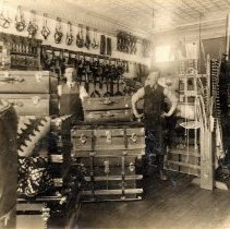 Image of Leather and Harness Shop - Interior of a leather and harness shop. Name of store is unknown.