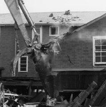 Image of Demolition of the Oakville House Hotel - 6 photographs, Neg #'s 1230-1236.