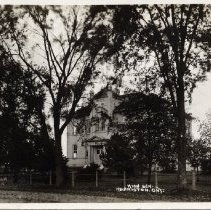"""Image of Harriston High School - Back of the photo reads: To: Ms. L. Appleby, Orillia, ONT. """"Dec. 21, -15, To wish you a Merry Christmas and a Happy New Year. Mrs. A. McLeod, Harriston, Oakvillr, ONT."""""""