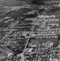 Image of Kerr Street from Q.E.W. to Rebecca - Includes Oakville Arena.