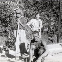 Image of Three Unidentified Bridge Construction Workers
