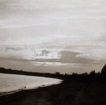 Image of Teskey lake cottage - Shown here at sunset.