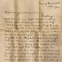 Image of Gordon Munro Letters, Feb. 2, 1915