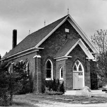 Image of Sheridan Church - A photograph of Sheridan United Church.  The date that the photo was taken is unknown.