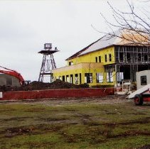 Image of Bronte Harbour - Shows construction of a building next to the harbour.