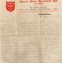 Image of WWI Munro letter