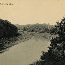 """Image of Galbraith Postcard - Addressed to Mr. Dee (Don) Galbraith, from Billy Galbraith (his younger brother). Postcard reads: """"Here is the old swimming hole Donny boy- remember- I am busy at school- we were at London on Sunday, it was great. Hope you are having a good time! When are you coming home? Send me a card Billy G xxx"""