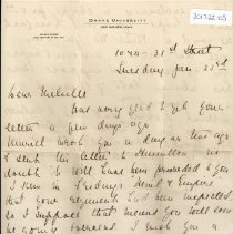 Image of Munro Letters: Jan. 23 1917: Aunt Leah to Melville Munro