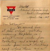 Image of Munro Letters: April 24 1917: Melville Munro to Jessie Munro