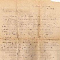 Image of Munro Letters: June 6 1917: Melville Munro to Jessie Munro