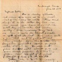 Image of Munro Letters: June 17 1917; Melville Munro to Jessie Munro