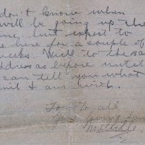 Image of Munro Letters: 1917 Sept 9: Melville Munro to Jessie Munro.