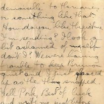 Image of Munro Letters: 1917 Sept 11: George Brock Chisholm to Melville Munro.