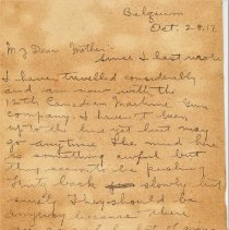 Image of Munro Letters: 1917 Oct 28: Arthur Melville Munro to Jessie Munro