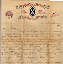 Image of Munro Letters: March 29, 1918: Melville Munro to Jessie Munro
