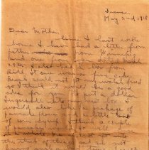 Image of Munro Letters: May 2,1918: Melville Munro to Jessie Munro