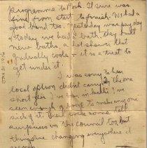 Image of Gordon Munro Letters, Jan. 21, 1916