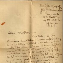 Image of Munro Letters: 1916 Jan. 27: from Gordon Munro to Jessie Munro  - In which Gordon writes from Belgium to Jessie Munro. Included is a description of the tedium of trench life and the fact that there is little news to relay.