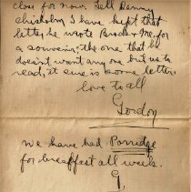 Image of Gordon Munro Letters, Feb. 15, 1916