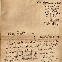 Image of Munro Letters: 1916 Feb. 15: from Gordon Munro to James E. Munro  - In which Gordon Munro writes to his father with news from the front. Included is mention of bomb school, types of barb wire, inoculations, and fellow soldiers.