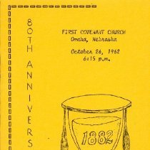 Image of 80 Anniversary Dinner Booklet