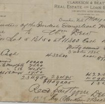 Image of Receipt  part payment for Old Church