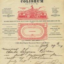 Image of Rental of Colisum, 1889