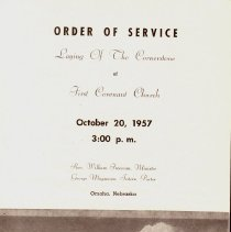 Image of Cover Order os Service Lahying of Cornerstone