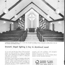 Image of Chapel lighting
